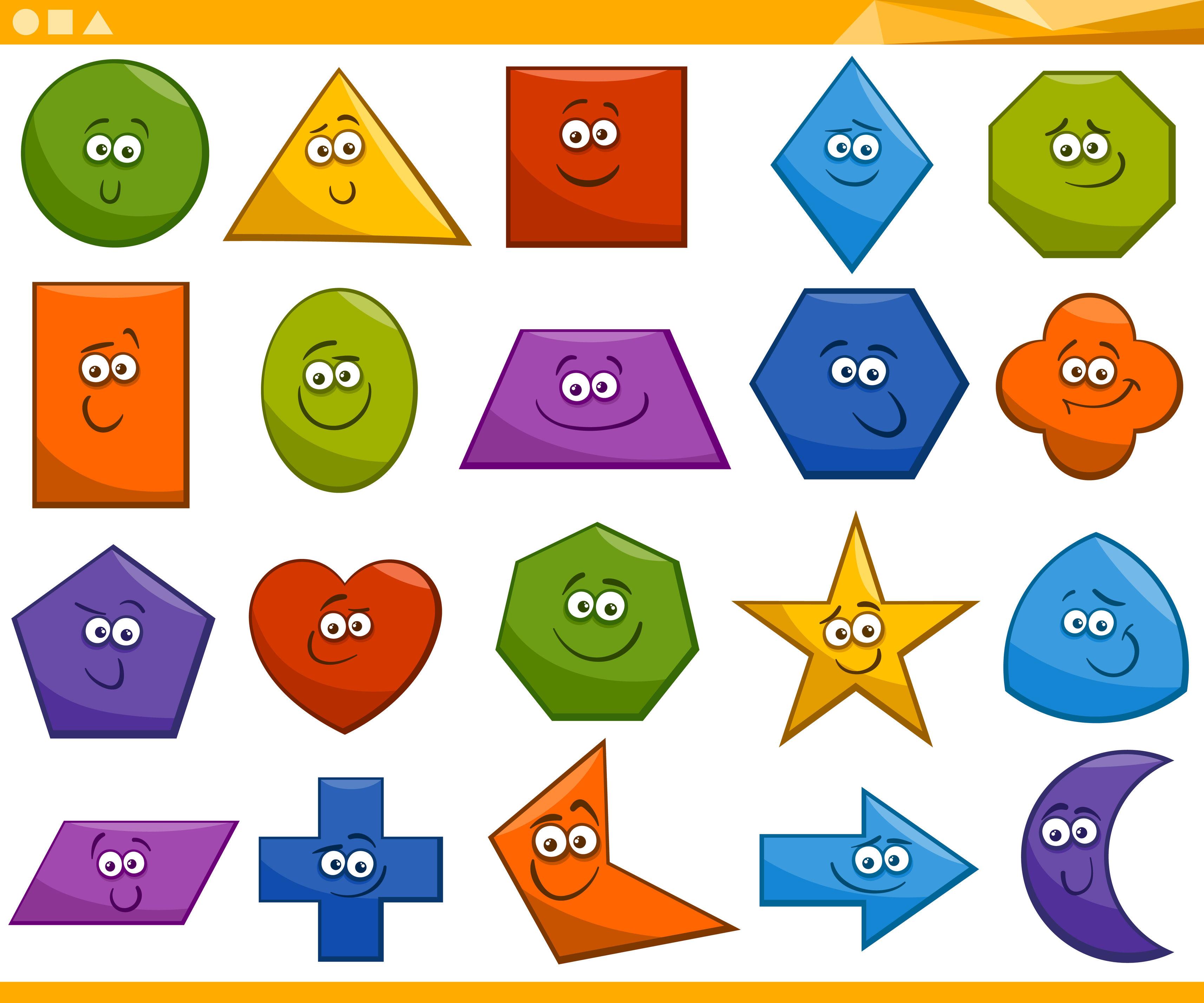 Formas geom tricas divertidas ideales para tus fichas y for Las formas geometricas