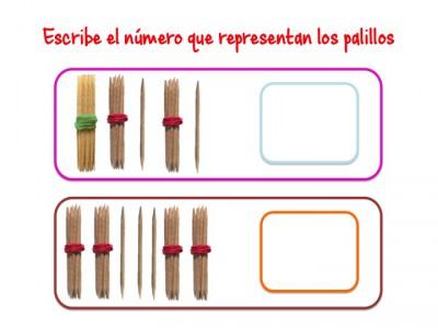 ABN Escribe el número que representan los palillos unidades de millar14