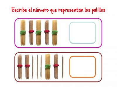 ABN Escribe el número que representan los palillos unidades de millar15