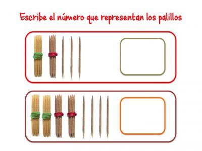 ABN Escribe el número que representan los palillos unidades de millar6