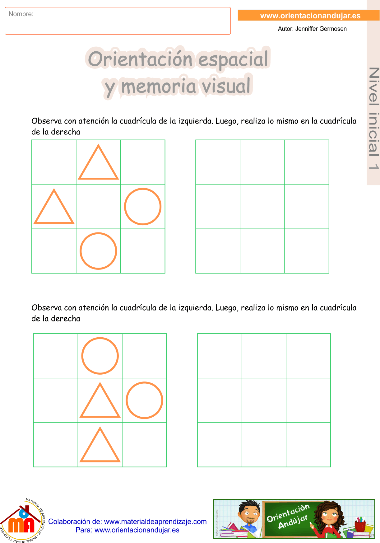 Super cuadernillo nº 1 de Orientación espacial y memoria visual