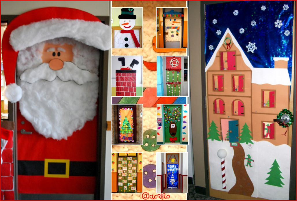 Collage puertas navidad1 orientaci n and jar recursos for Ideas para adornar puertas en navidad
