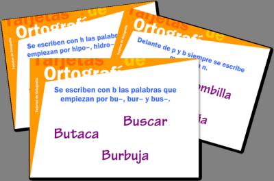 super coleccion de tarjetas de ortografía