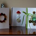 Tarjetas de Navidad Con Botones (2)