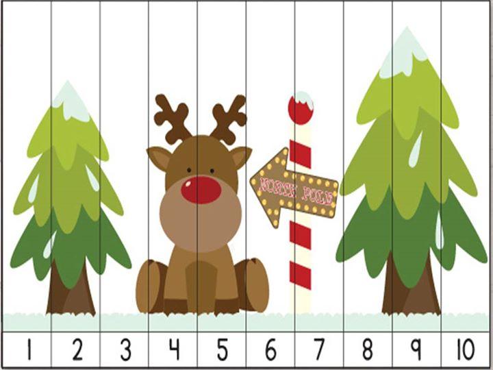 rompecabezas numericos para navidad (5) - Orientación ...