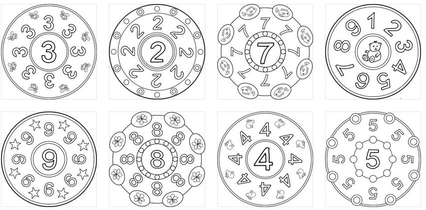 Super mandalas de números listas para imprimir y colorear ...