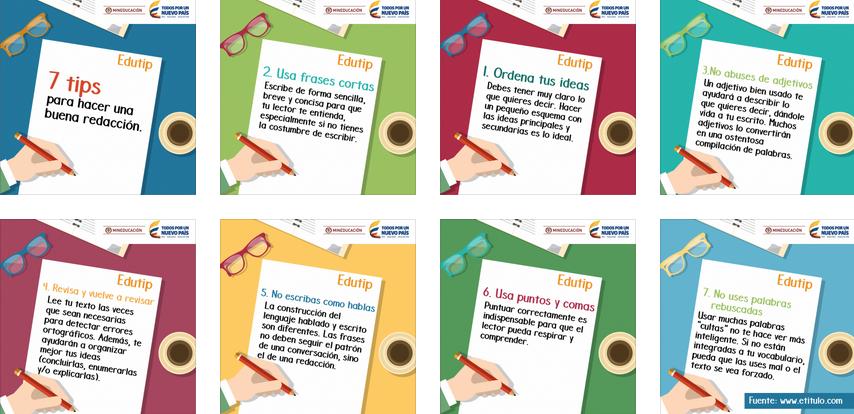 7 TIPS EN imágnes para hacer una buena redacción ... - photo#16