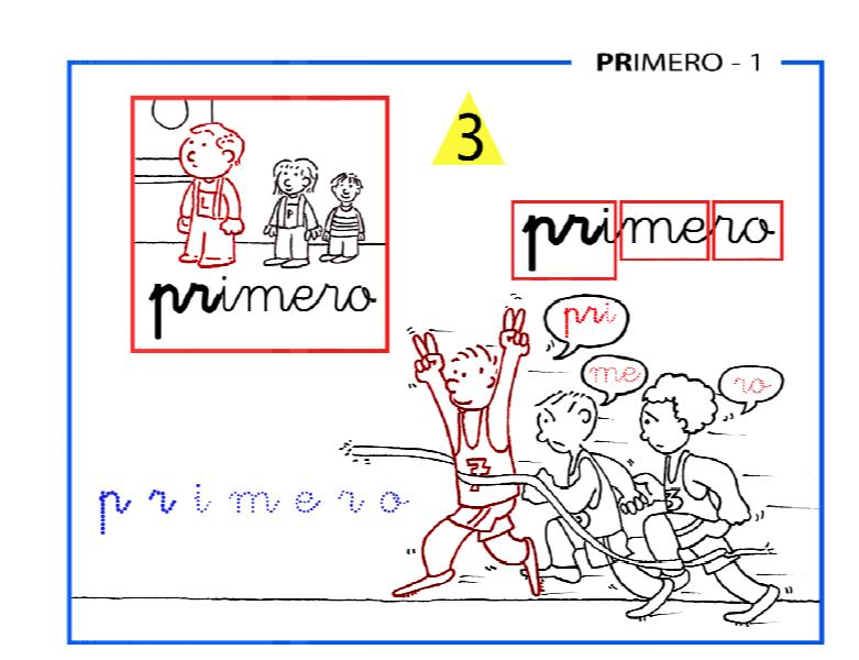 Dibujos Con La Trabada Br: Lectoescritura Paso A Paso FICHAS TRABADAS PR DE PRIMERO