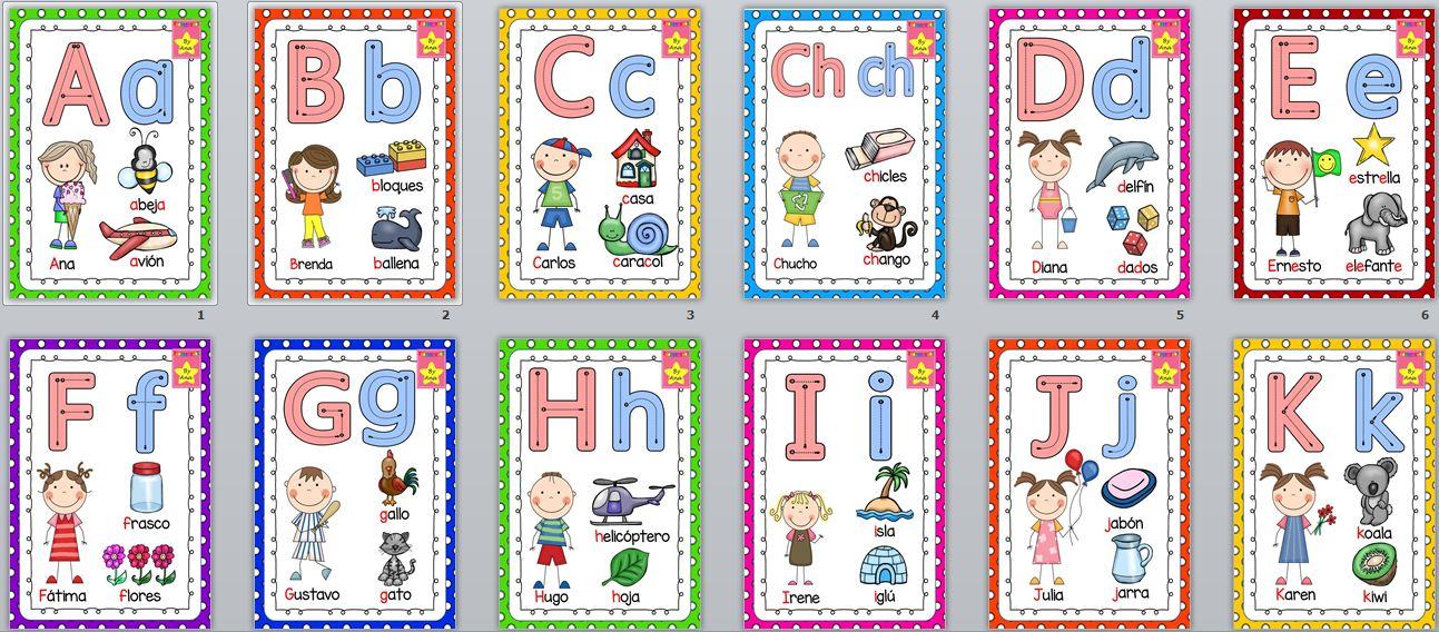 Super abecedario para trabajar las letras y la motricidad - Literas divertidas para ninos ...