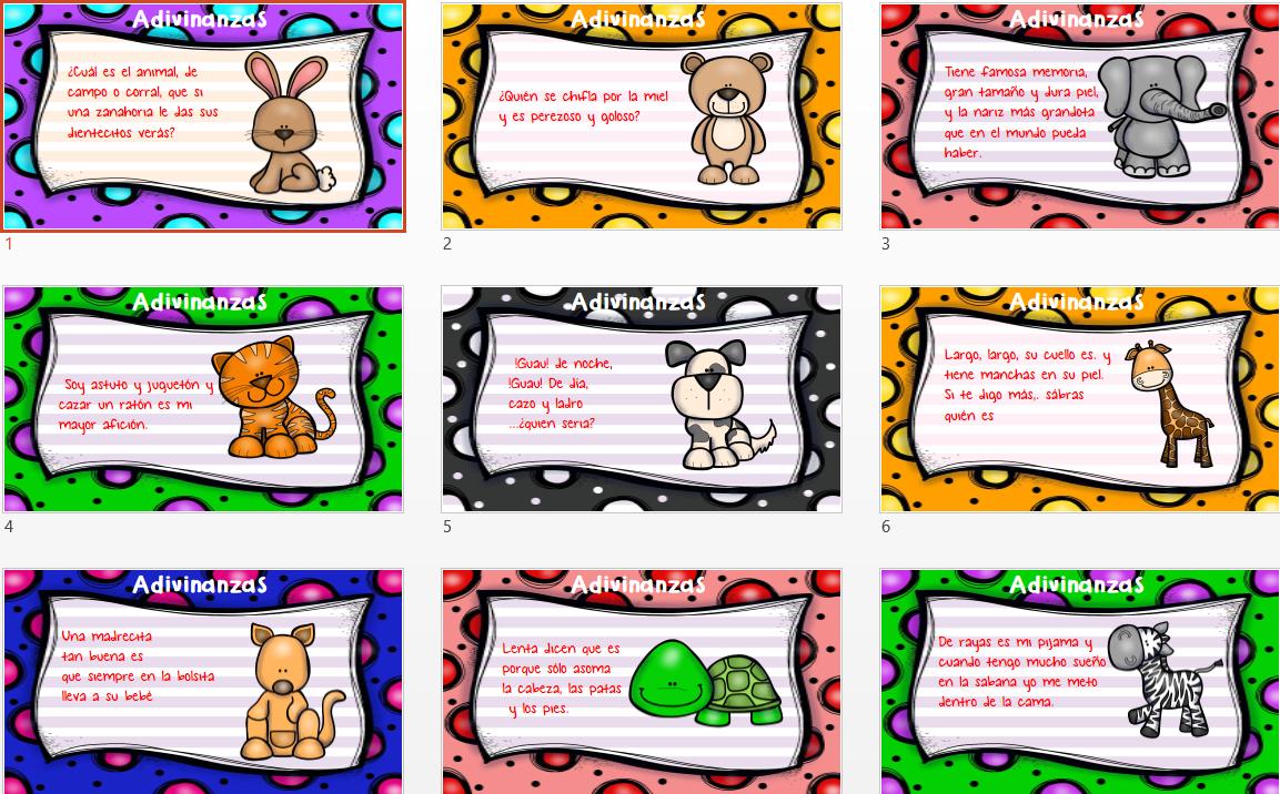Divertidas adivinanzas de animales en l minas a todo color - Literas divertidas para ninos ...