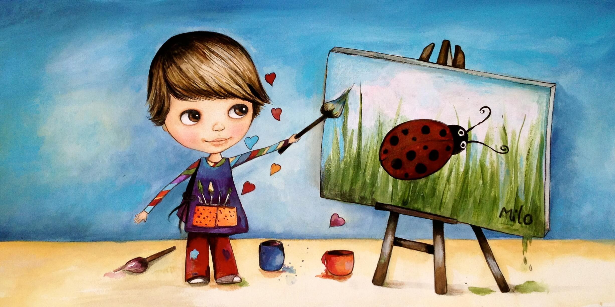Pinto Dibujos Imagenes De Niños Felices Leyendo Para: Orientación Andújar