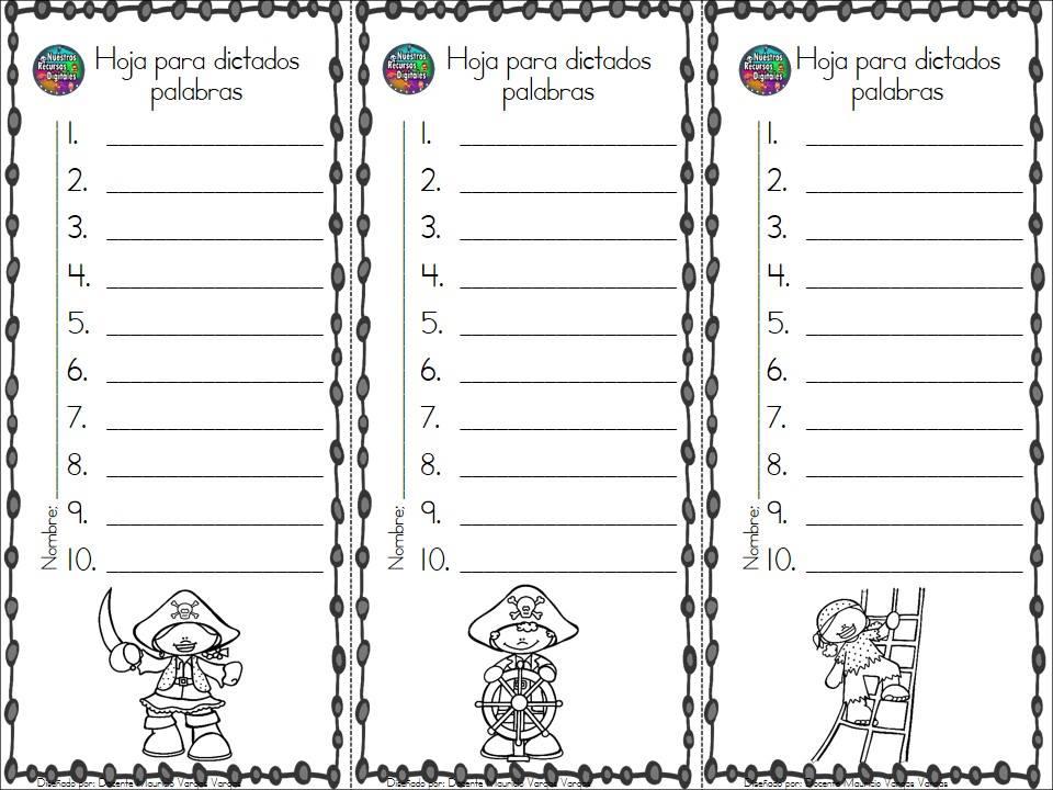 Plantillas de dictados (15) - Orientación Andújar - Recursos Educativos