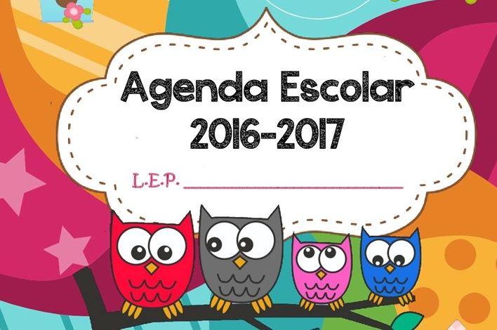 Resultado de imagen de portada agenda escolar 2016-2017