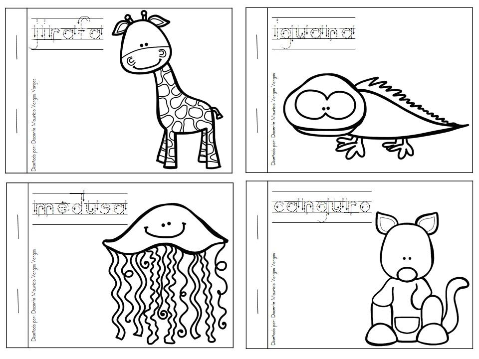 Vistoso Libros Para Colorear Abc Ilustración - Dibujos Para Colorear ...