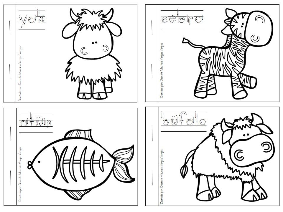 Increíble Libro Para Colorear Preescolar Pdf Adorno - Dibujos Para ...