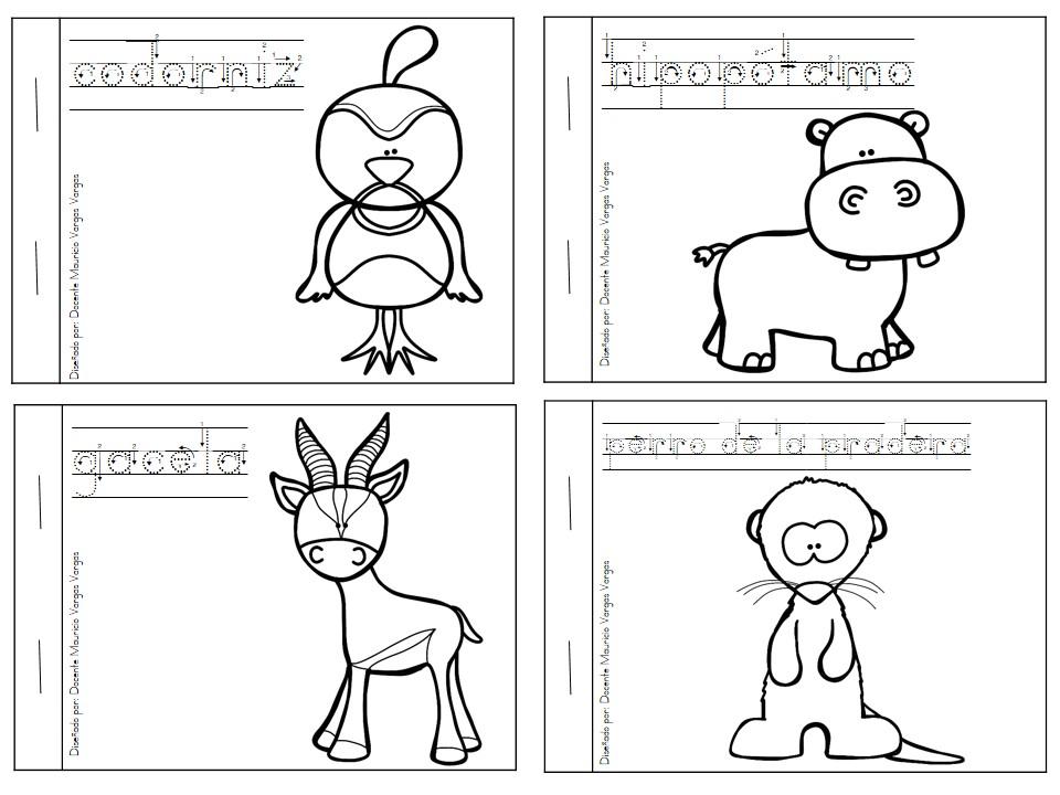 Mi libro de colorear de animales salvajes (6) - Orientación Andújar ...