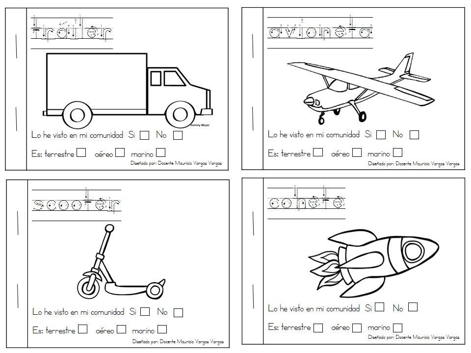 Transportes Por Tierra Para Colorear: Mi Libro De Colorear De Medios De Transporte (5