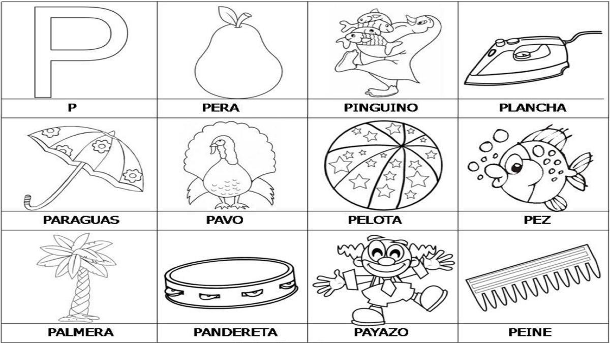 Dibujos Para Colorear Que Empiecen Con La Letra A: Imágenes Que Empiecen Con La Letra G Lectoescritura Decora