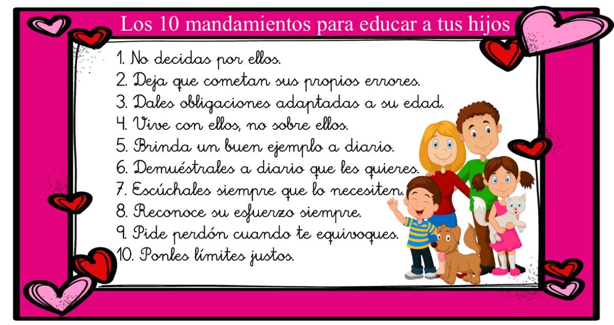 Los 10 mandamientos para educar a tus hijos orientacion andujar - Los 10 locos mandamientos ...