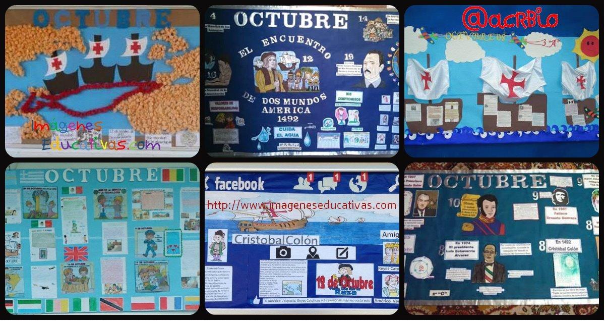 Super ideas para el peri dico mural del mes de octubre for Avisos de ocasion el mural