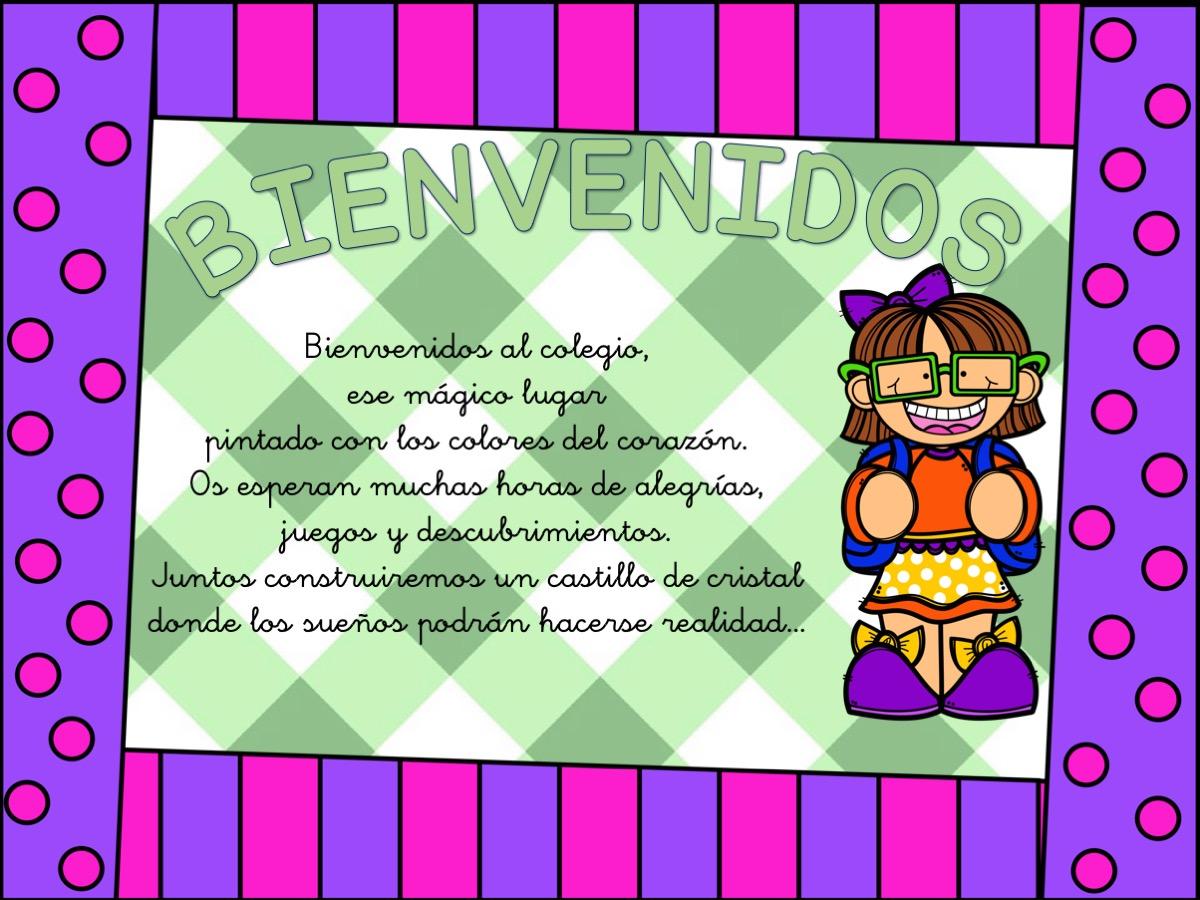 Carteles de bienvenida infantil y primaria4 orientaci n for Cancion de bienvenida al jardin