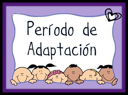 Resultado de imagen de el periodo de adaptación en educación infantil