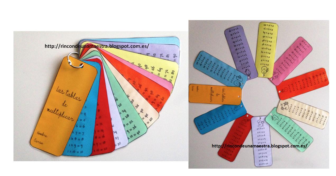Super llavero cuaderno de las tablas de multiplicar ...