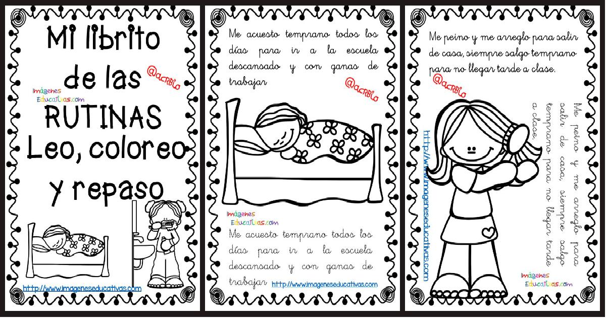 Rutinas Libro Para Colorear Y Aprender Portada Orientación