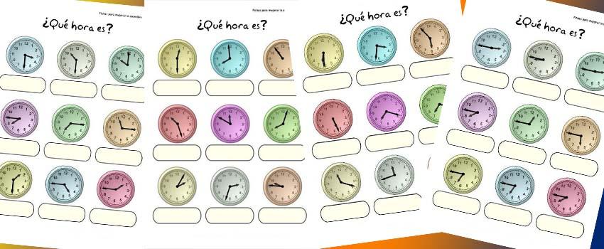 Actividades para trabajar las horas Orientacion Andujar