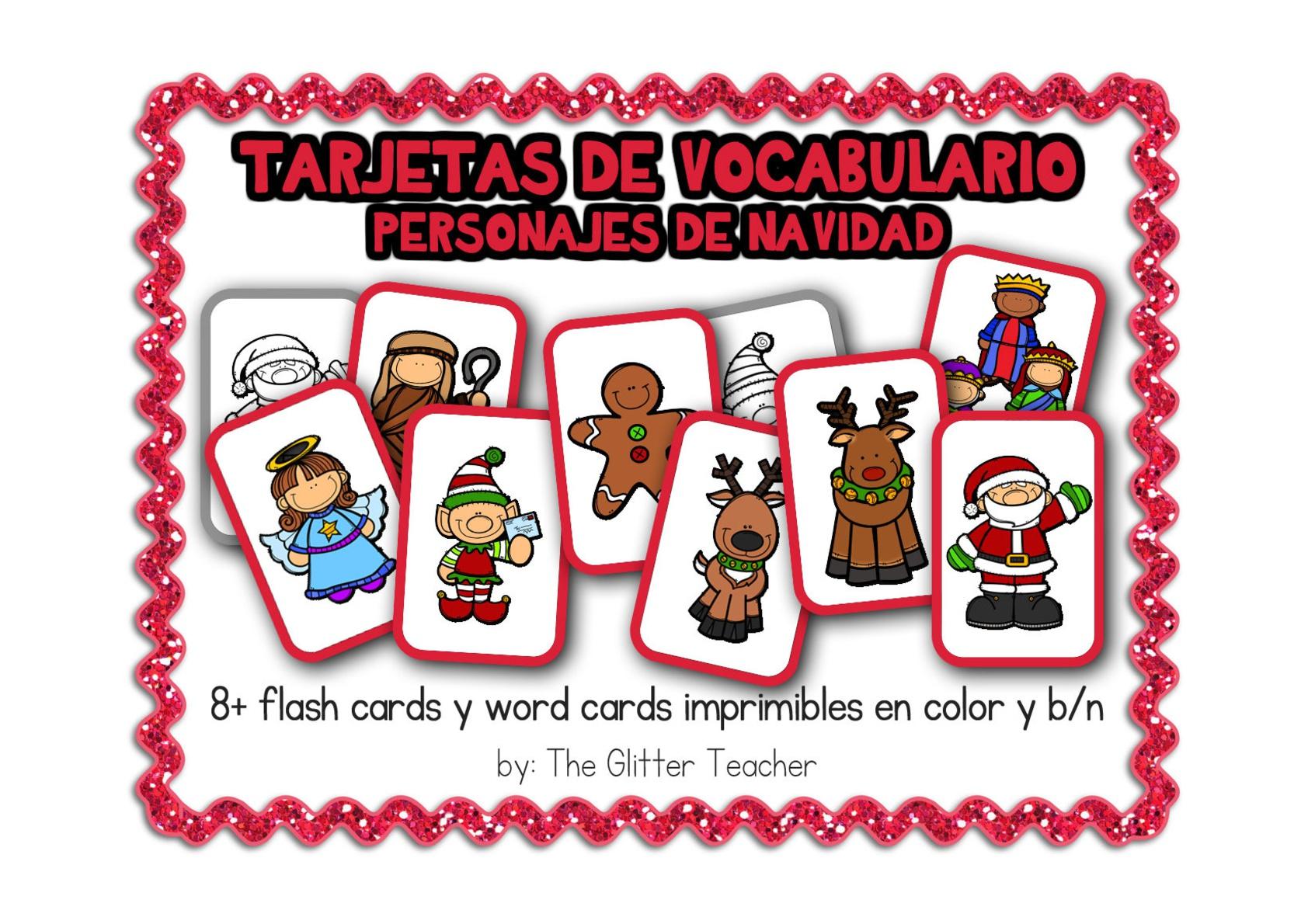 tarjetas-de-vocabulario-de-personajes-de-navidad1 - Orientación ...