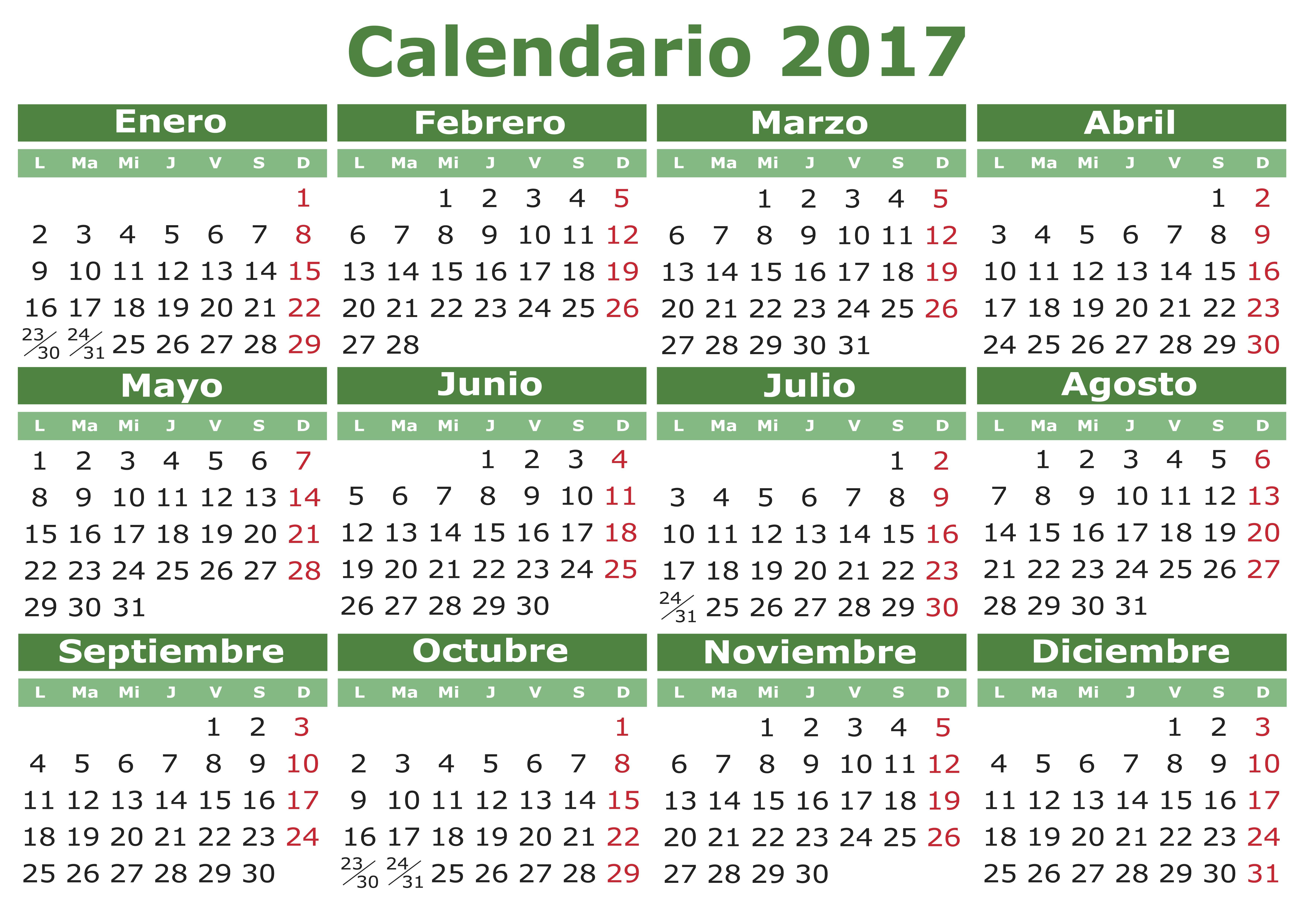 Spanish calendar 2017 orientaci n and jar recursos for Calendario eventos madrid