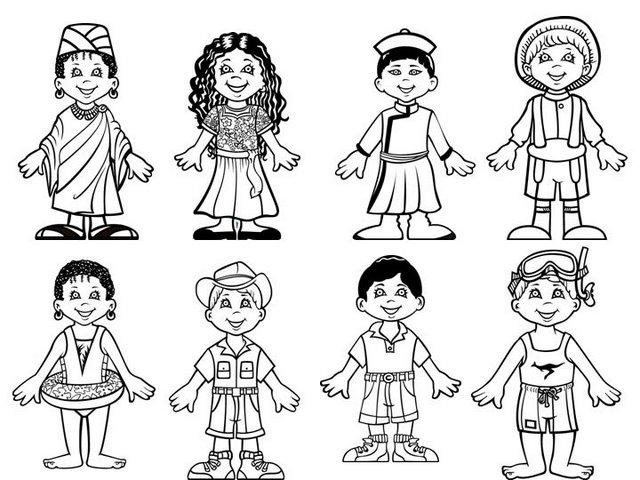 colorear chicos y chicas del mundo1 - Orientación Andújar - Recursos ...