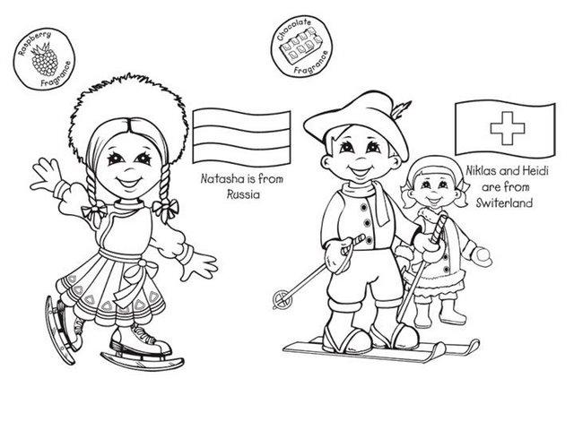 colorear chicos y chicas del mundo6 - Orientación Andújar - Recursos ...