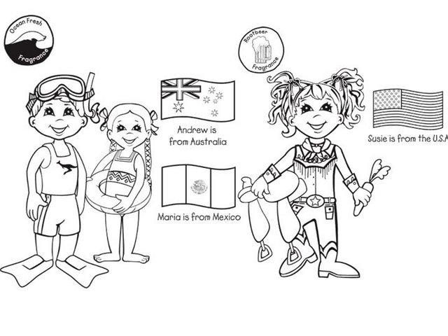 colorear chicos y chicas del mundo8 - Orientación Andújar - Recursos ...