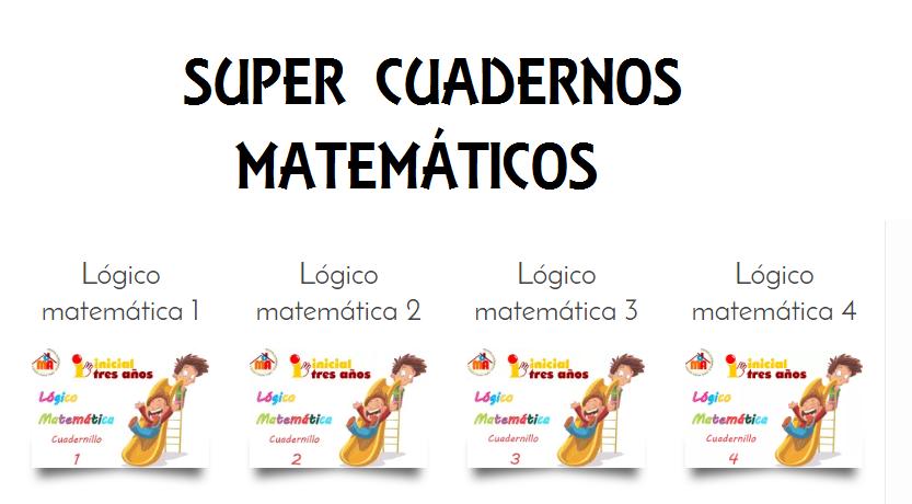 Cuatro cuadernillos para infantil y preescolar Lógico matemática ...