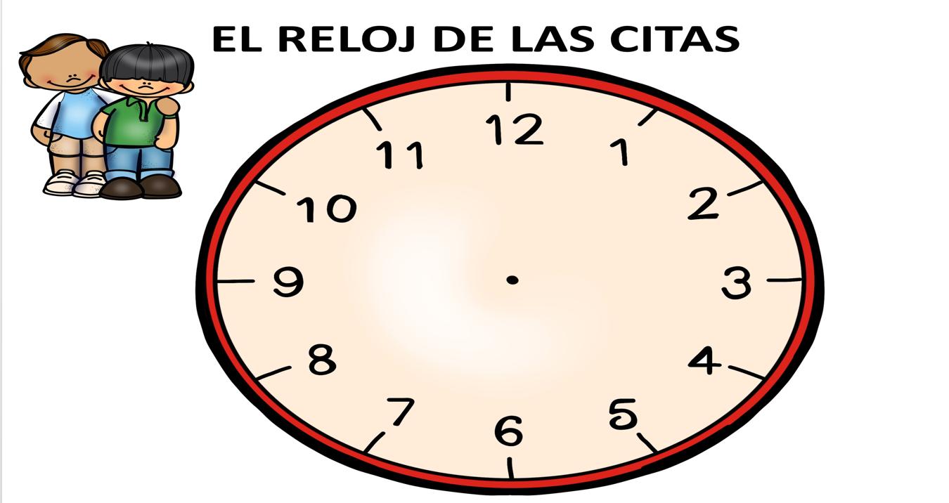 Aprendizaje cooperativo el reloj de las citas plantilla editable orientacion andujar - Mecanismo para reloj de pared ...