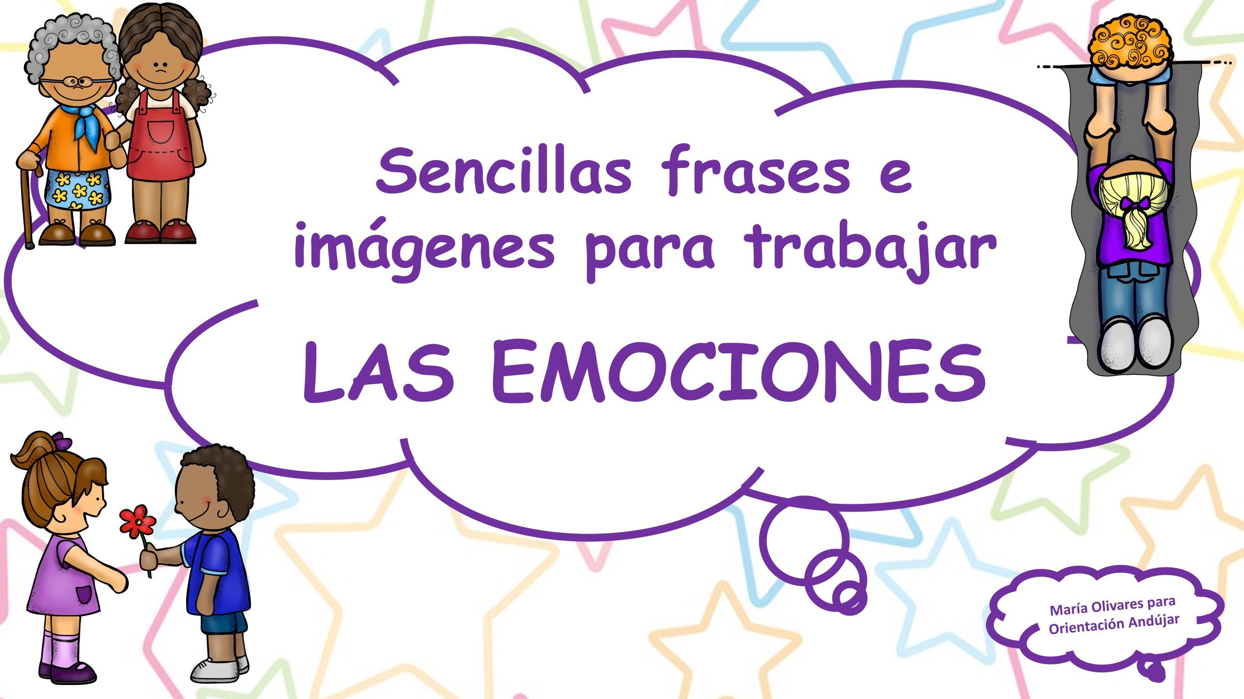 Sencillas frases e imágenes para trabajar LAS EMOCIONES -Orientacion ...