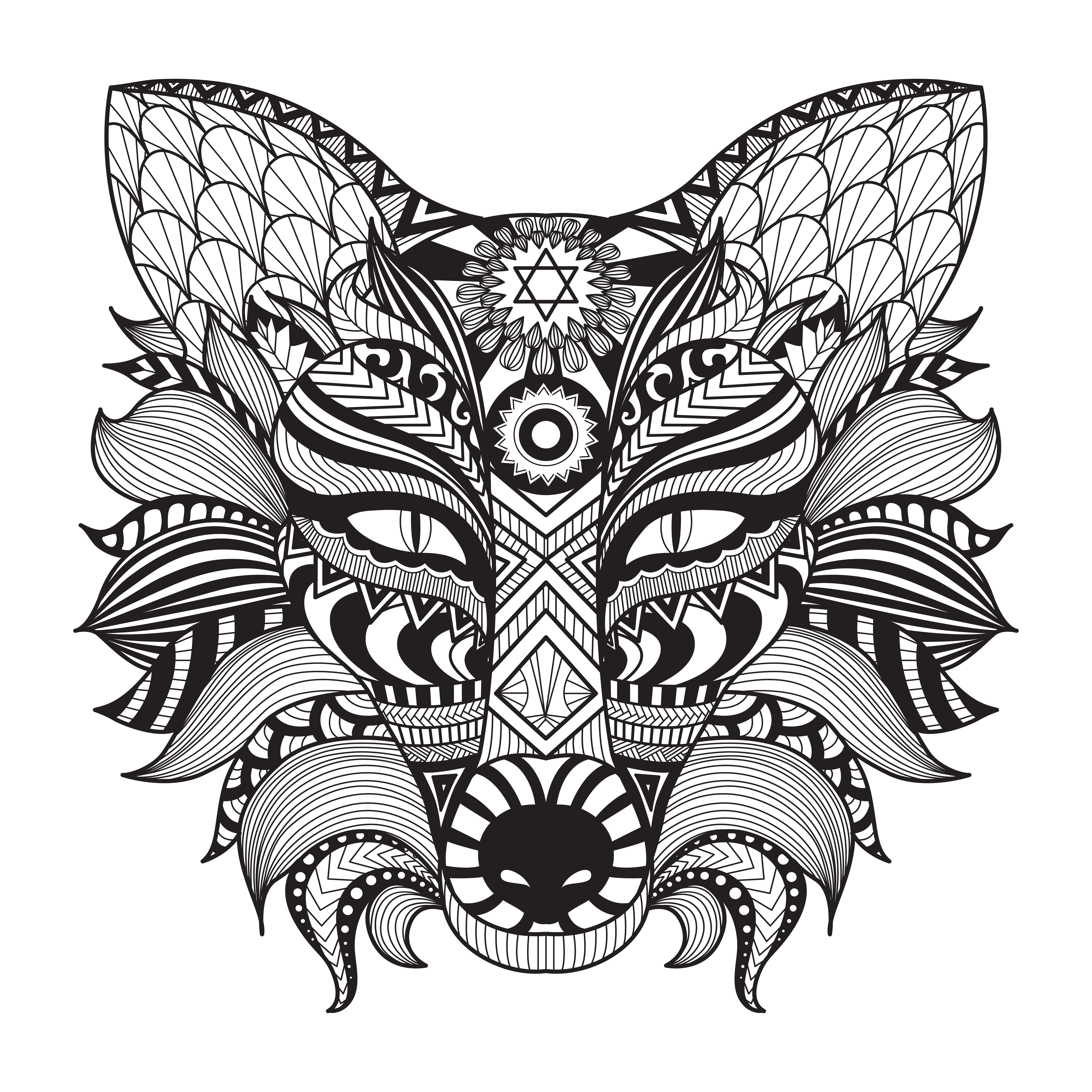 Image Result For Mandala Wolf Coloring