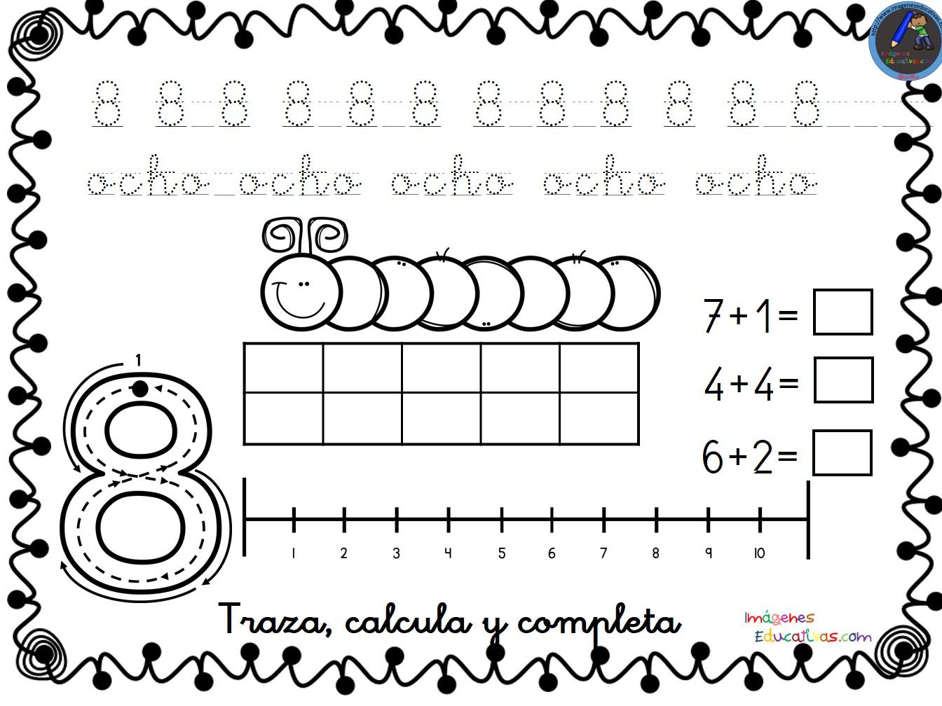 Dibujos Para Colorear De Los Numeros Del 1 Al 20: Colección De Fichas Para Trabajar Los Números Del 1 Al 30