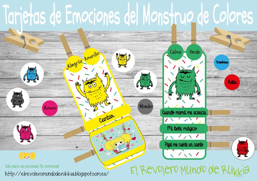 EMOCIONAL TARJETAS DE EMOCIONES DEL MONSTRUO DE COLORES -Orientacion ...