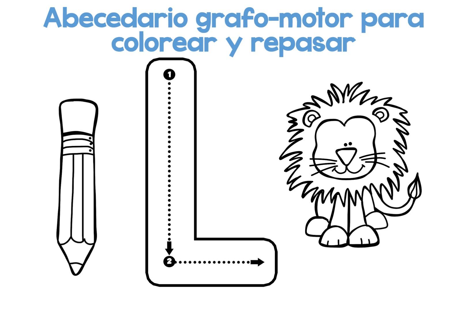 Completo Abecedario grafo-motor para colorear y repasar12 ...