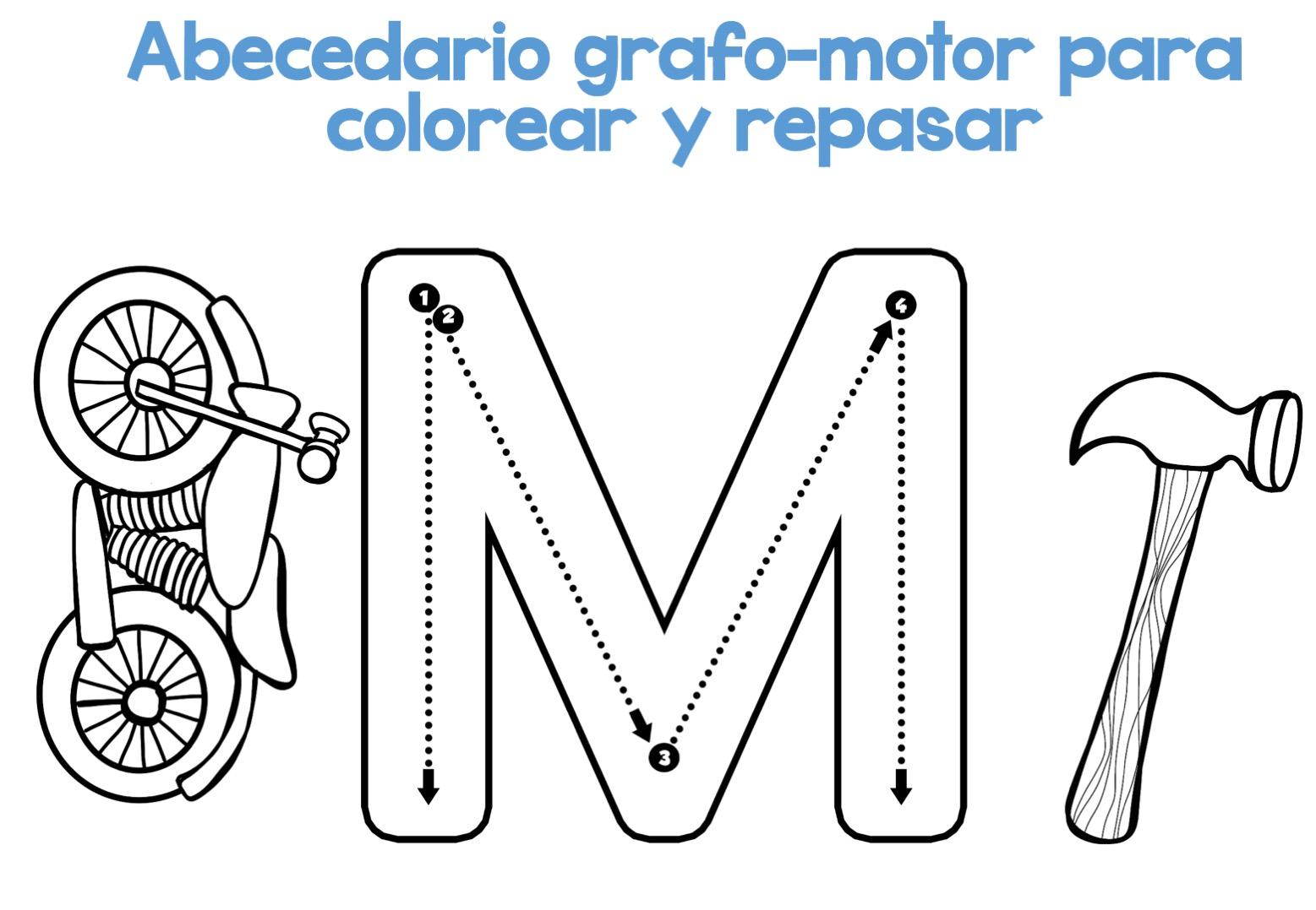 Fichas Del Abecedario Para Colorear Niños De Infantil Y: Completo Abecedario Grafo-motor Para Colorear Y Repasar13