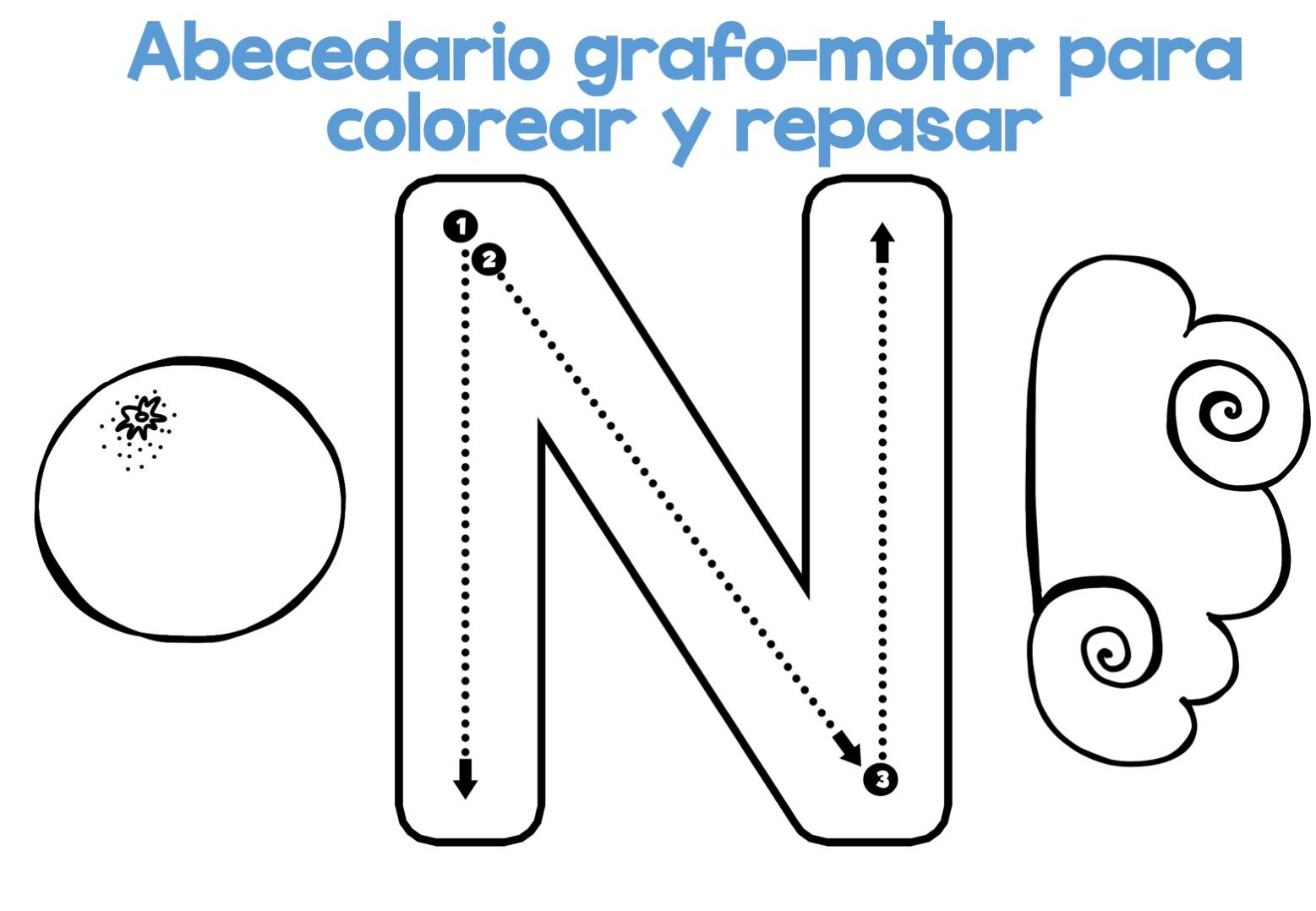 Alfabeto Para Colorear: Completo Abecedario Grafo-motor Para Colorear Y Repasar14