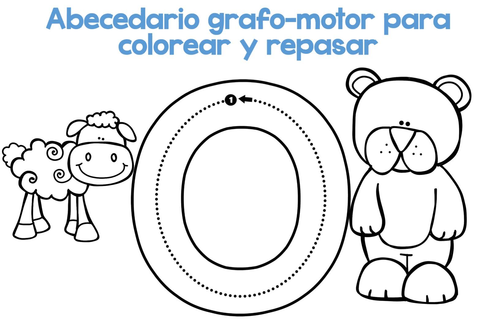 Completo Abecedario grafo-motor para colorear y repasar16 ...