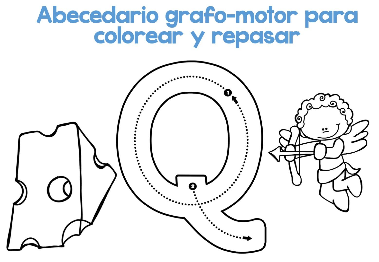 Completo Abecedario Grafo-motor Para Colorear Y Repasar18