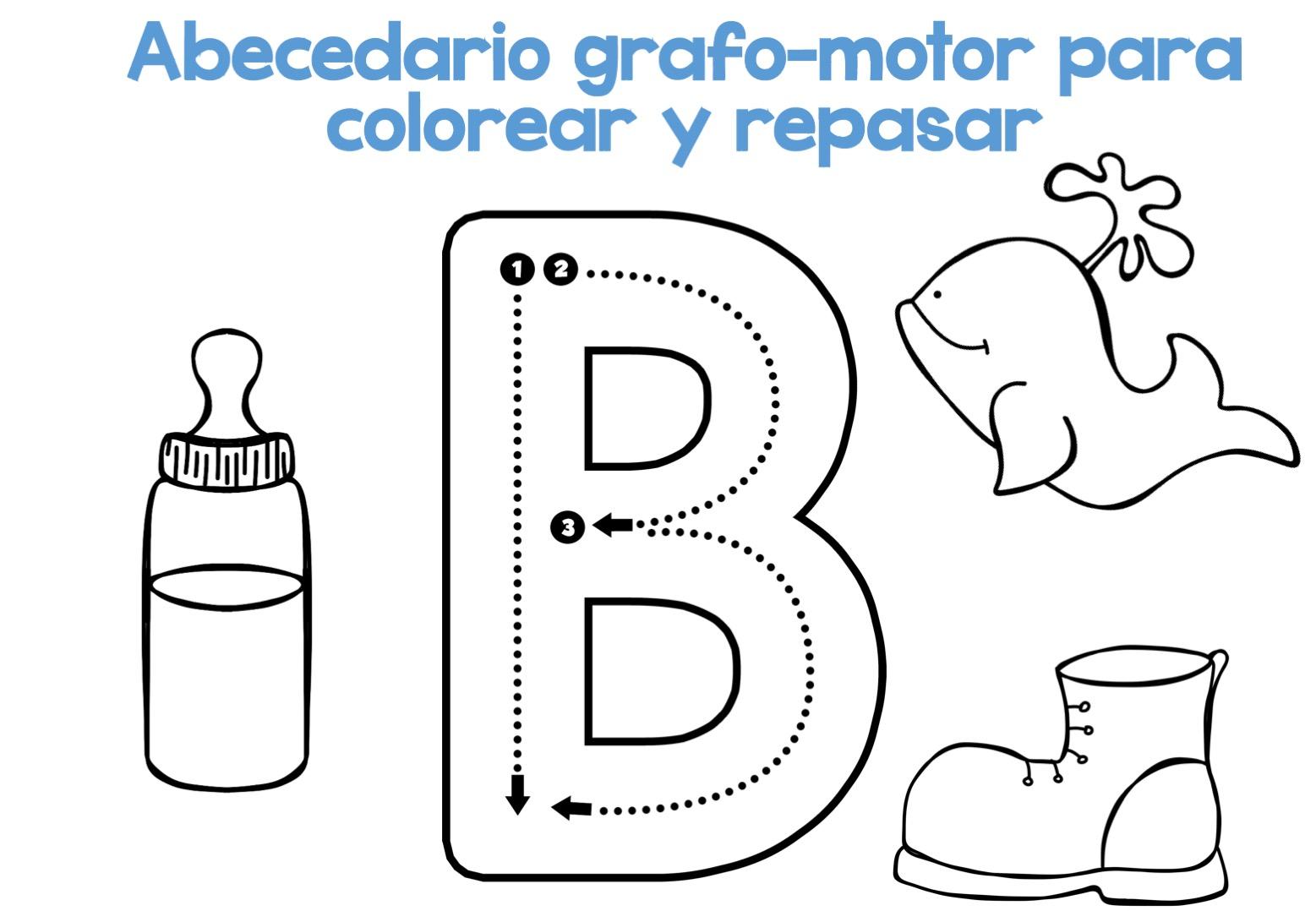 Dibujos De El Abecedario Para Colorear: Completo Abecedario Grafo-motor Para Colorear Y Repasar2