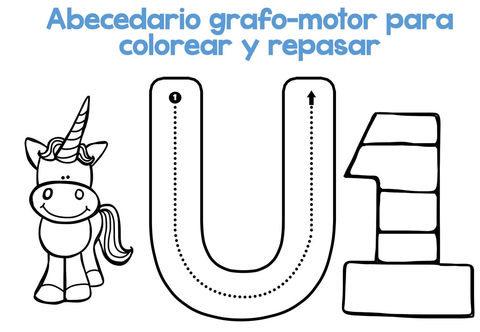 Completo Abecedario grafo-motor para colorear y repasar22 ...