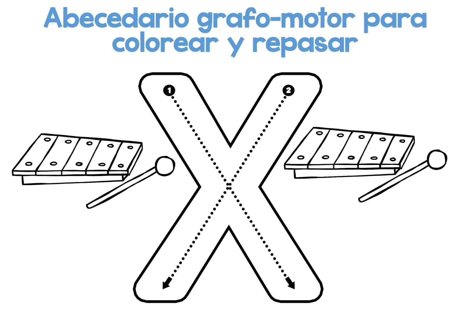 Fichas Del Abecedario Para Colorear Niños De Infantil Y: Completo Abecedario Grafo-motor Para Colorear Y Repasar25