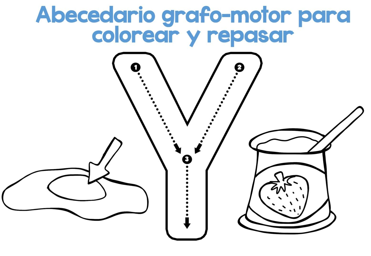Fichas Del Abecedario Para Colorear Niños De Infantil Y: Completo Abecedario Grafo-motor Para Colorear Y Repasar26