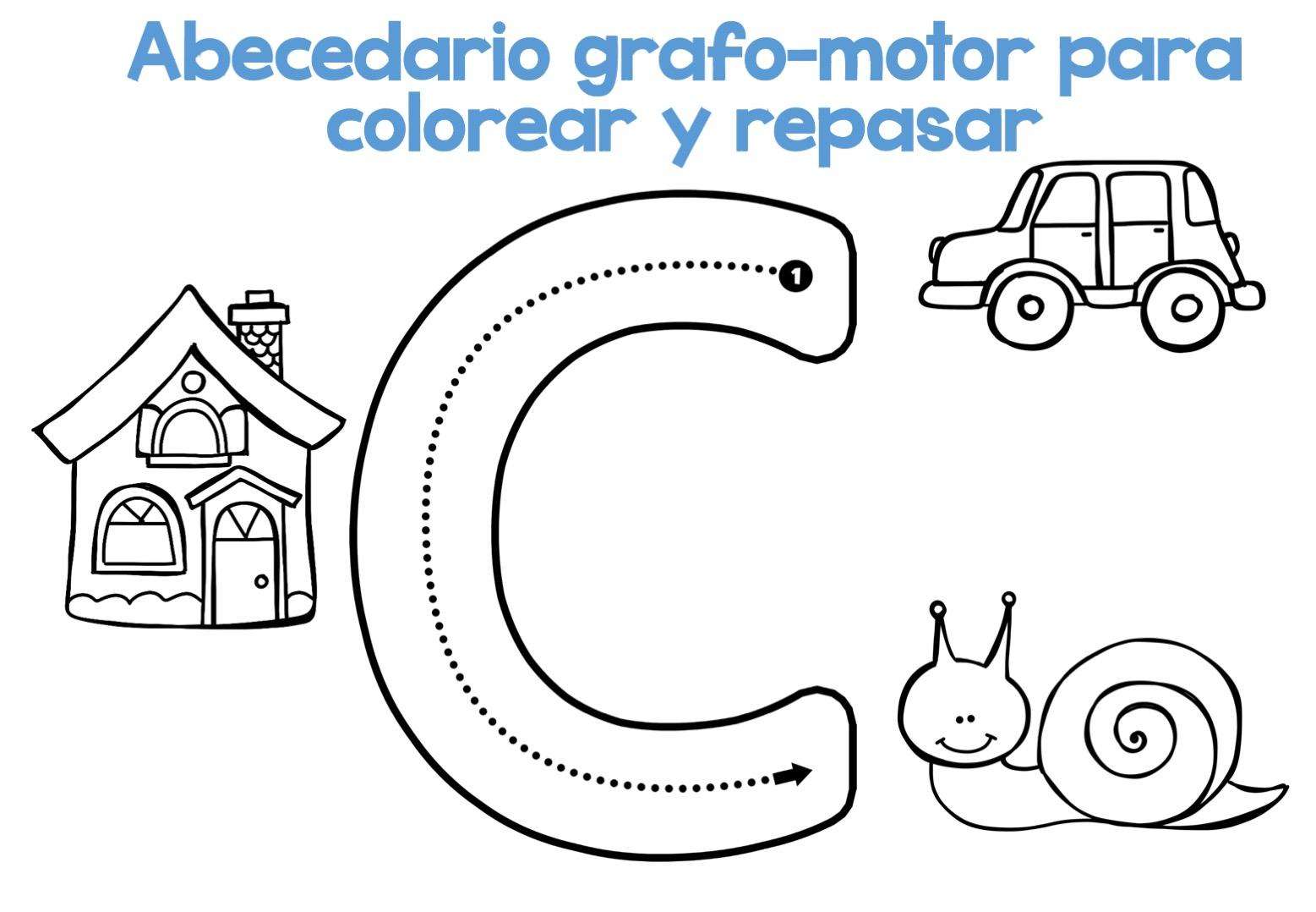 Completo Abecedario Grafo Motor Para Colorear Y Repasar Orientacion